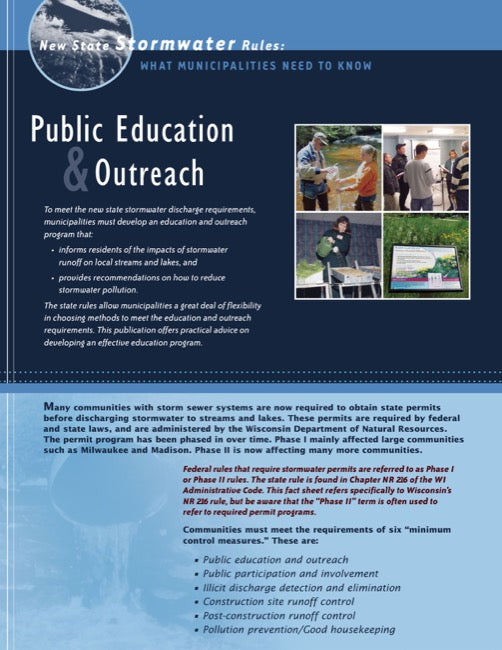 New State Stormwater Rules: Public Education & Outreach