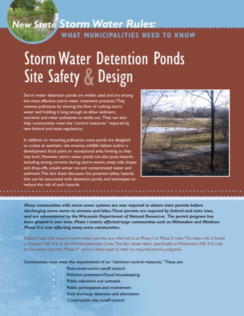 Storm Water Detention Ponds: Site Safety & Design