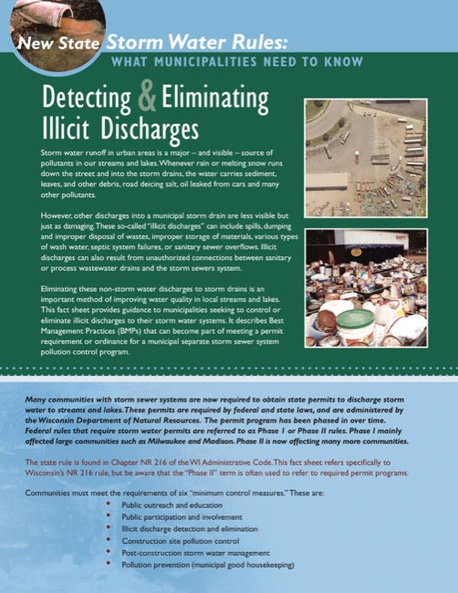 Detecting and Eliminating Illicit Discharges