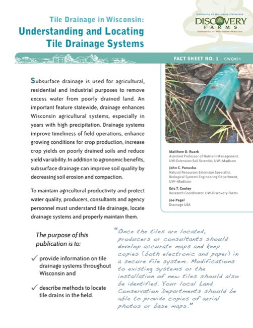 Tile Drainage in Wisconsin: Understanding and Locating Tile Drainage Systems