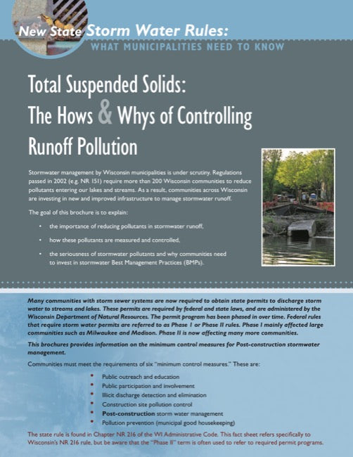 Total Suspended Solids: The Hows & Whys of Controlling Runoff Pollution