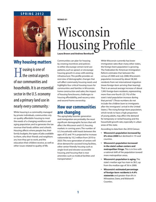 Wisconsin Housing Profiles