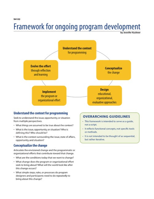 Framework for Ongoing Program Development