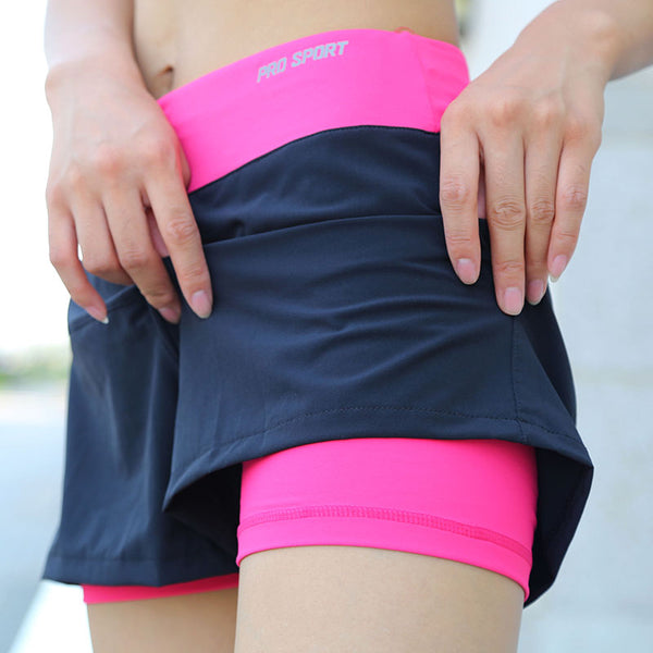 Double Layer Running Shorts - Mrym Active Wear
