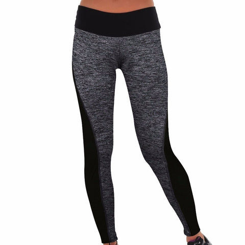 Gray Breathable Sports Leggings