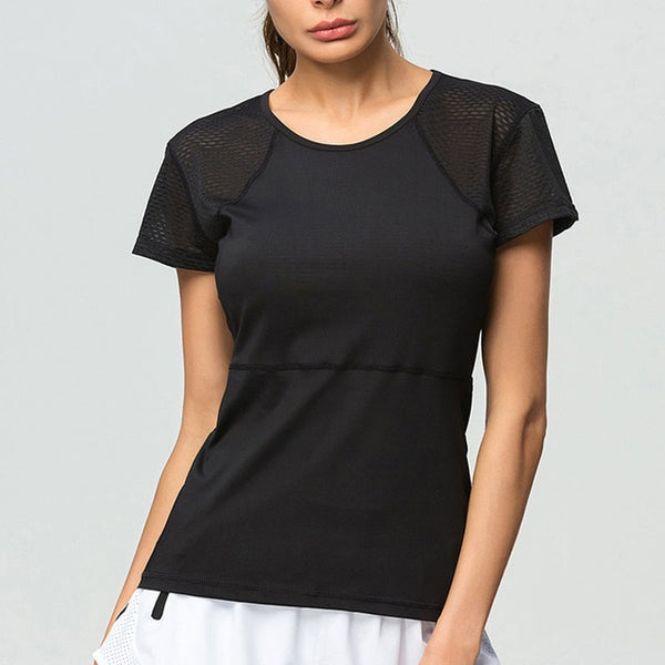Marie Mesh Fitness T-shirt - Mrym Active Wear
