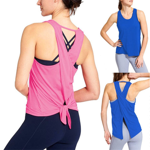Open Back Fitness Tank Top