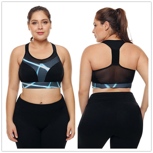 Dollie Plus Size Mesh Sports Bra