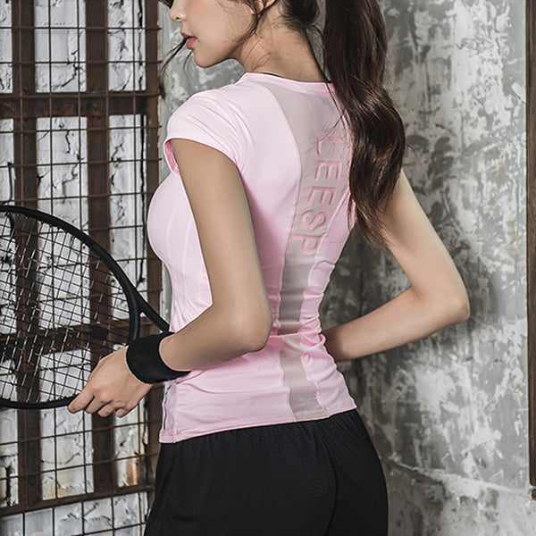Laura Short Sleeve Sports Top - Mrym Active Wear