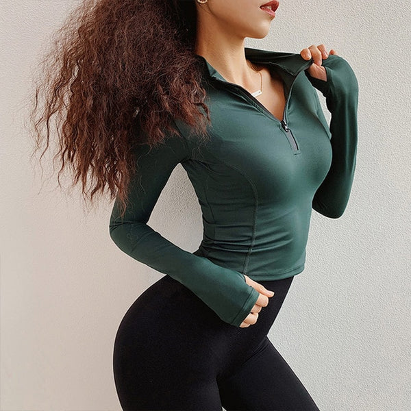 Stella Long Sleeve Fitness Top - Mrym Active Wear
