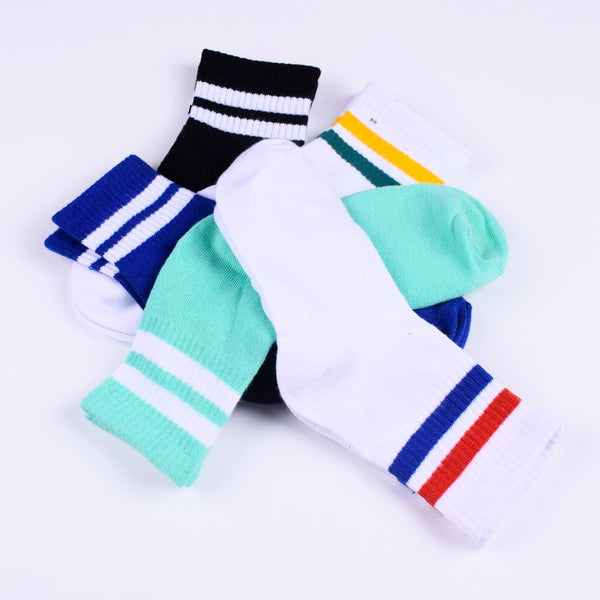 Breathable Cotton Warm Solid Socks - Mrym Active Wear