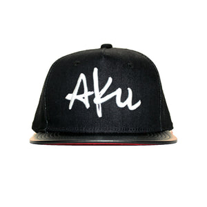 Aku Leather/Denim Snapback