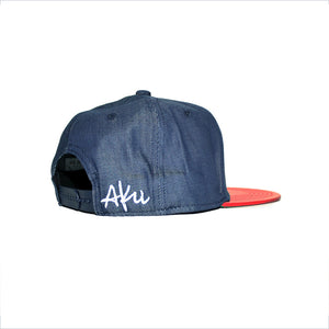 TW Leather/Denim Snapback