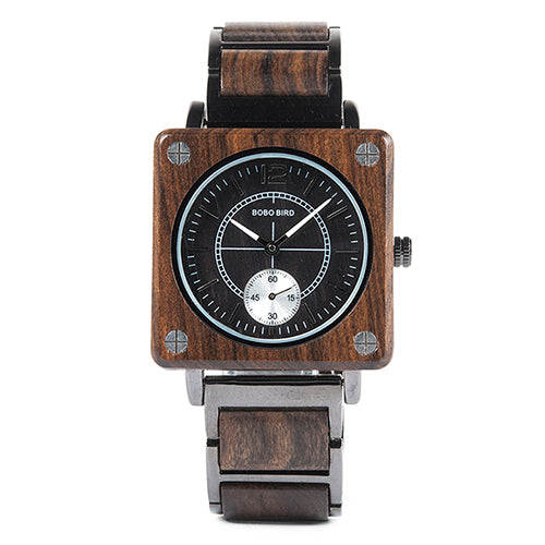 Distinction - Deluxe uniseks limited edition kwarts houten design horloge van BOBO BIRD