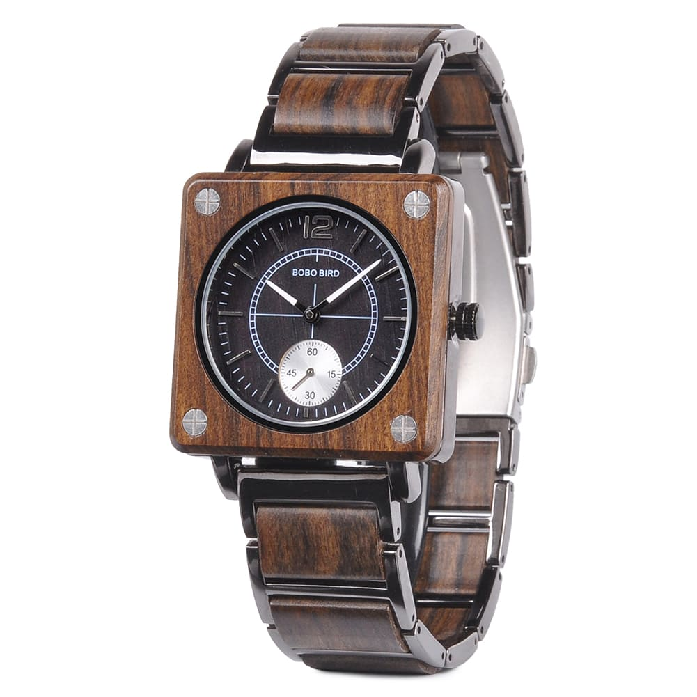Distinction Deluxe uniseks Limited edition houten design horloge