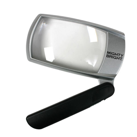 "2"" x 4"" Folding Lighted Magnifier Silver"