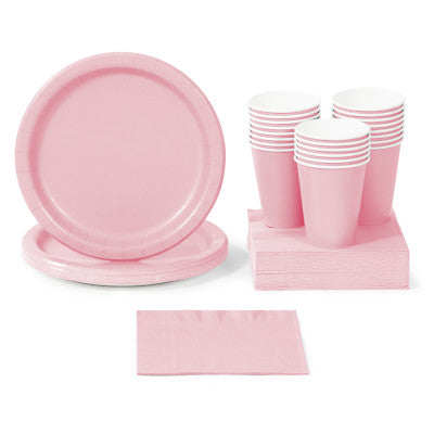 Classic Pink Solid Color Party Tableware