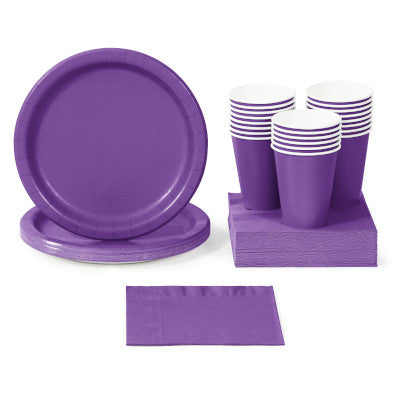 Amethyst Solid Color Tableware and Party Decorations