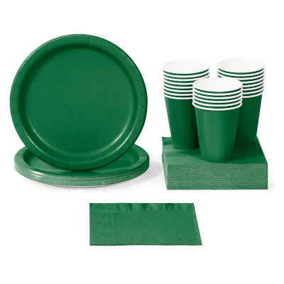 Emerald Green Solid Color Party Tableware