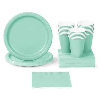 Fresh Mint Solid Color Party Tableware