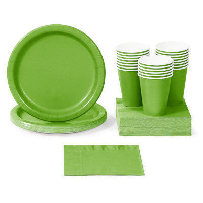 Fresh Lime Solid Color Party Tableware