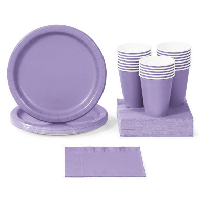 Luscious Lavender Solid Color Party Tableware