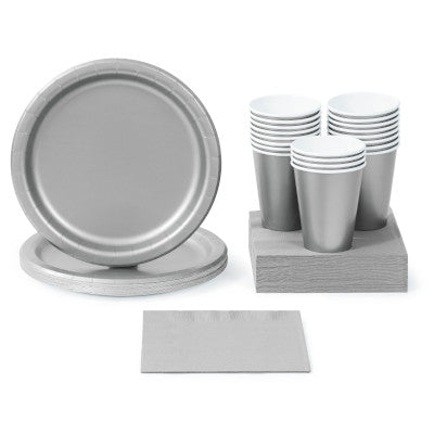 Shimmering Silver Solid Color Tableware