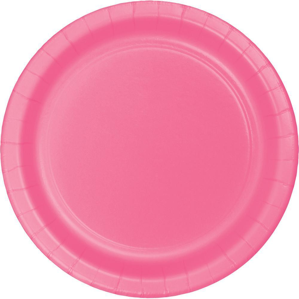 Solid Color Paper and Plastic Party Tableware