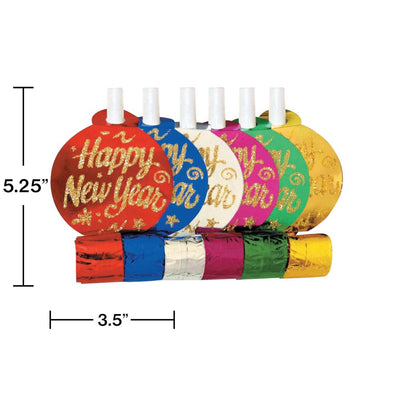 New Year's Assorted Party Blowers, 6 ct on sale at PartyDecorations.com