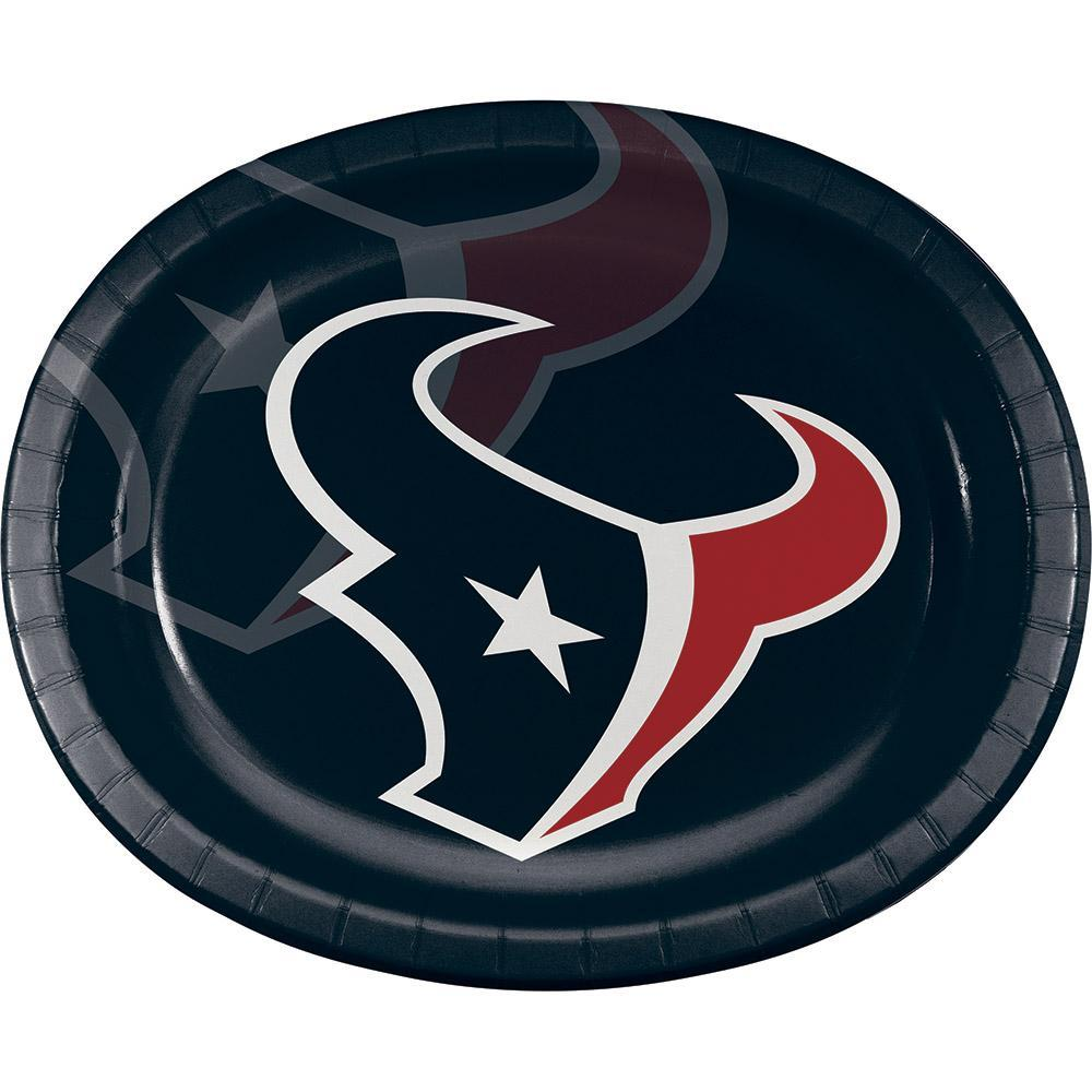 "Houston Texans Oval Platter 10"" X 12"", 8 ct by Creative Converting"