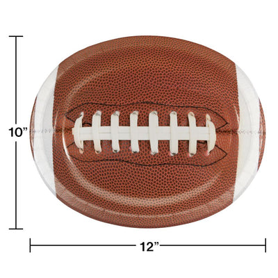 "Touchdown Time Oval Platters, 10"" X 12"", 8 ct by Creative Converting"