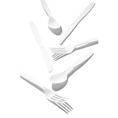 White 24Ct Assorted Cutlery (24/Pkg)