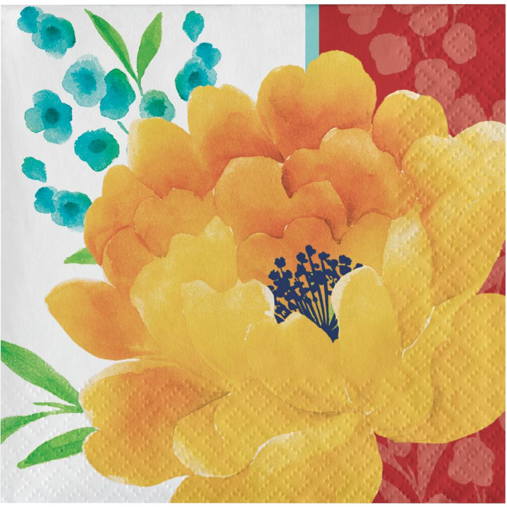 Beautiful Blossoms 24Ct 2Ply Beverage Napkin (24/Pkg) by Creative Converting