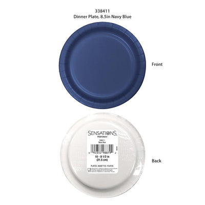 Navy 10Ct Performa Dinner Plate, (10/Pkg)