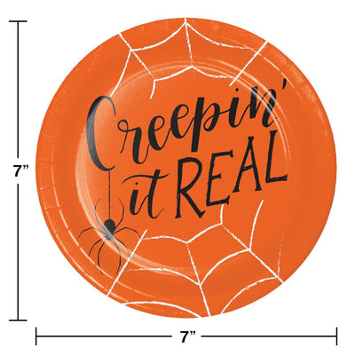Creepin It Real Halloween Dessert Party Plates 8 ct - Halloween Party Supplies