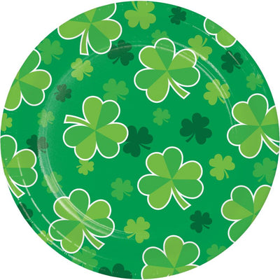 Irish Clover Luncheon Plate, Shamrock Toss (8/Pkg) by Creative Converting