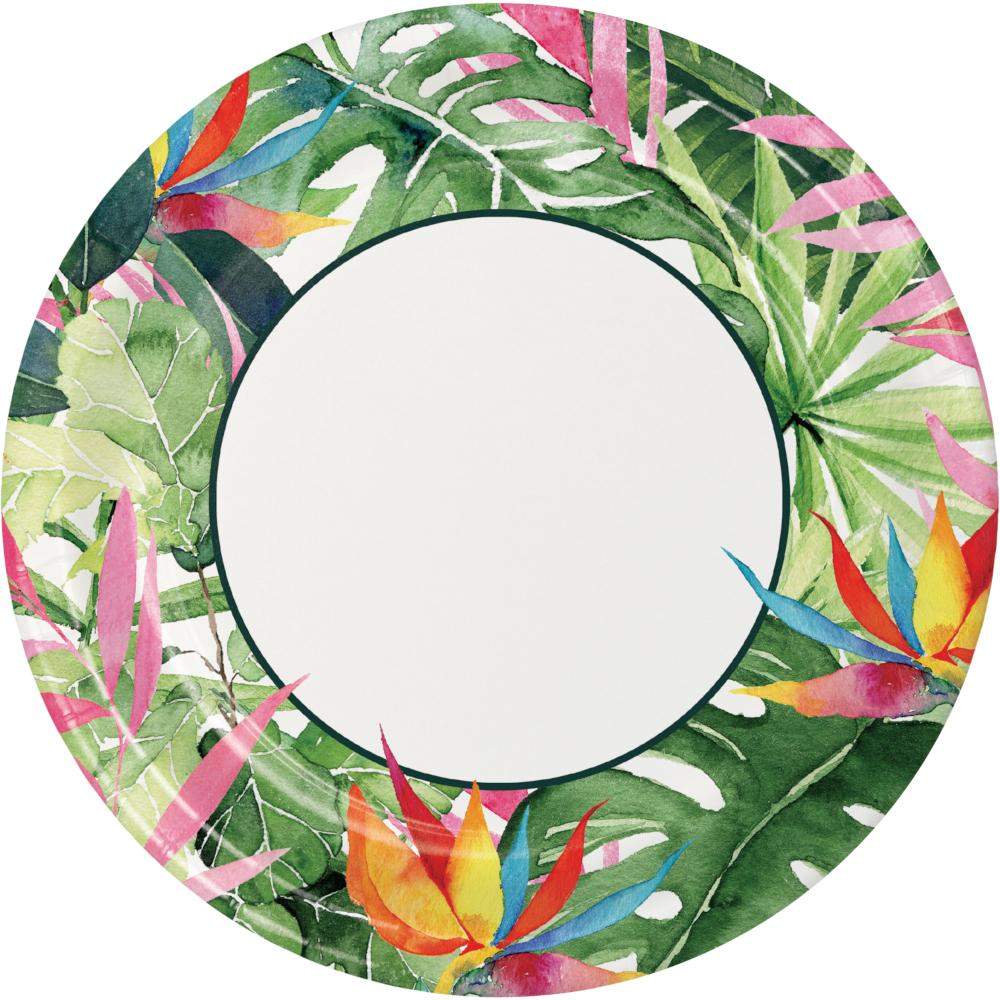 Floral Paradise Dinner Plate (8/Pkg) by Creative Converting
