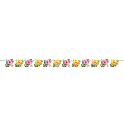 Floral Paradise Shaped Ribbon Banner (1/Pkg) by Creative Converting