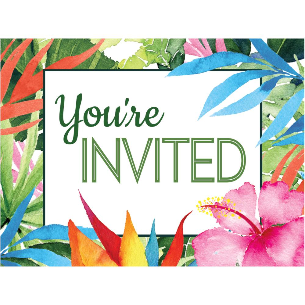 Floral Paradise Invitation Postcard (8/Pkg) by Creative Converting