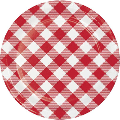 Classic Gingham Luncheon Plate (8/Pkg) by Creative Converting