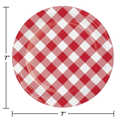 Classic Gingham Luncheon Plate (8/Pkg) on sale at PartyDecorations.com