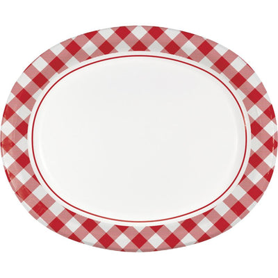 Classic Gingham Oval Platter (8/Pkg) by Creative Converting