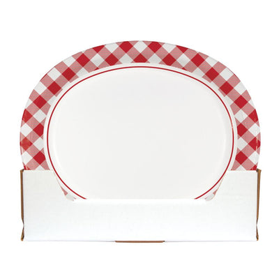 Classic Gingham Oval Platter (8/Pkg) on sale at PartyDecorations.com