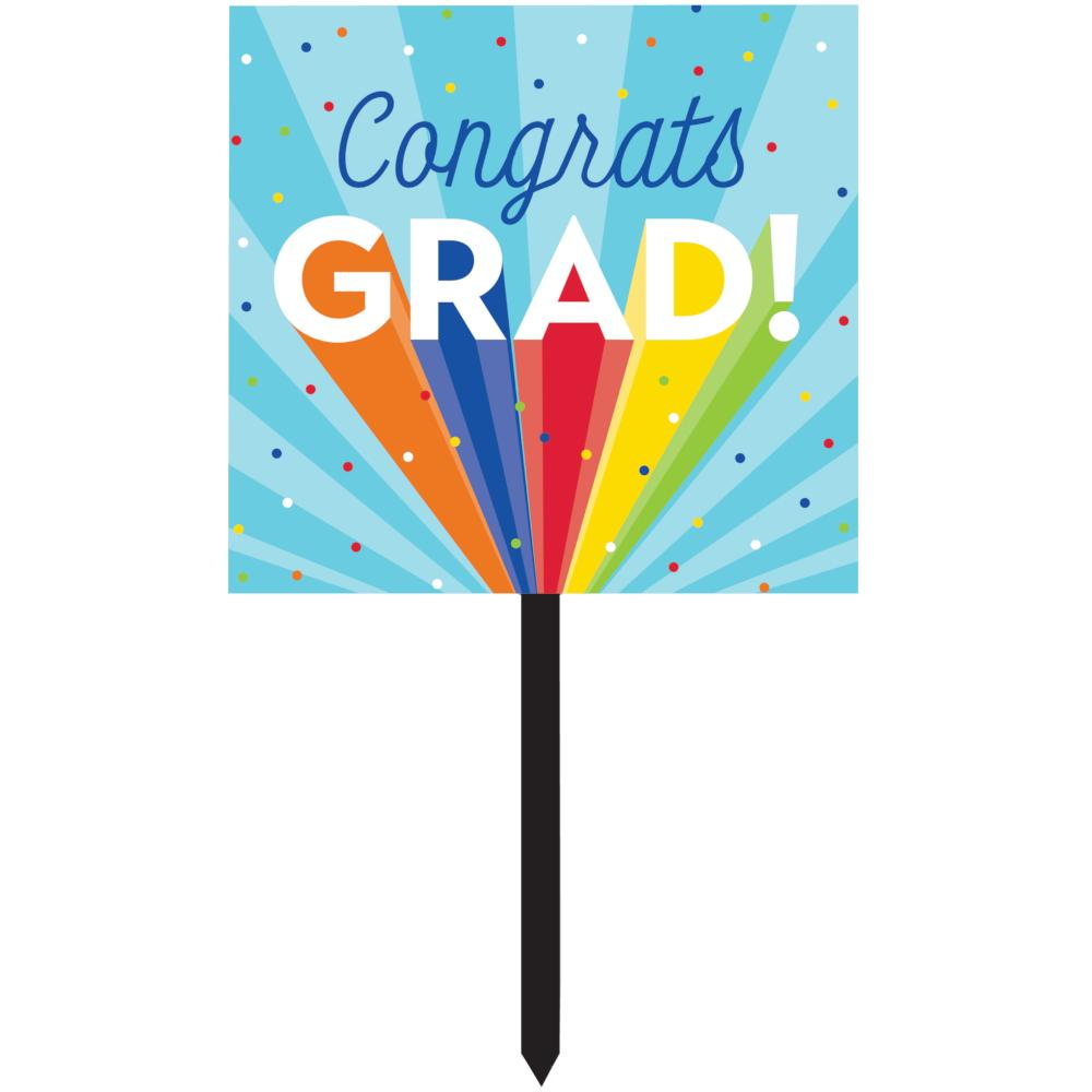 Rainbow Grad Yard Sign (1/Pkg) by Creative Converting