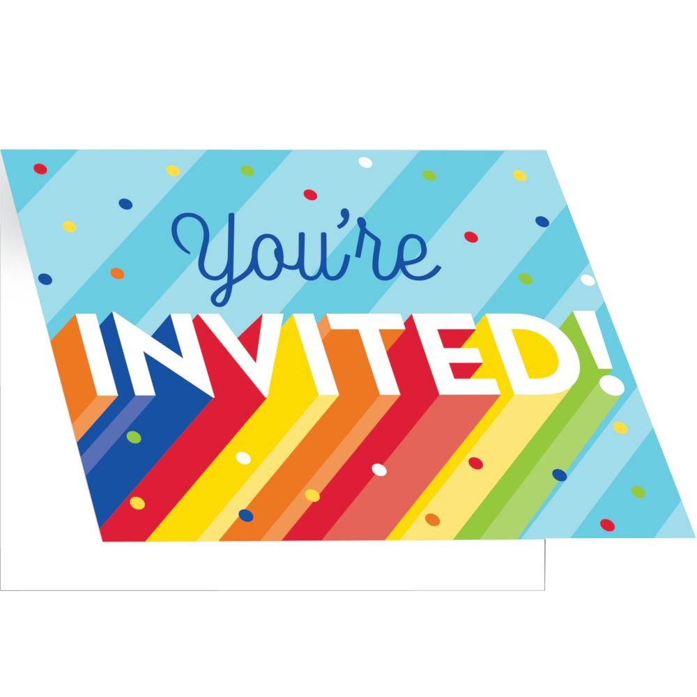 Rainbow Grad Invitation, Foldover (8/Pkg) by Creative Converting