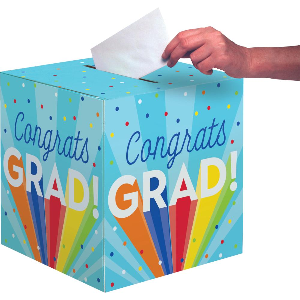 "Rainbow Grad 12"" X 12"" Card Box (1/Pkg) by Creative Converting"