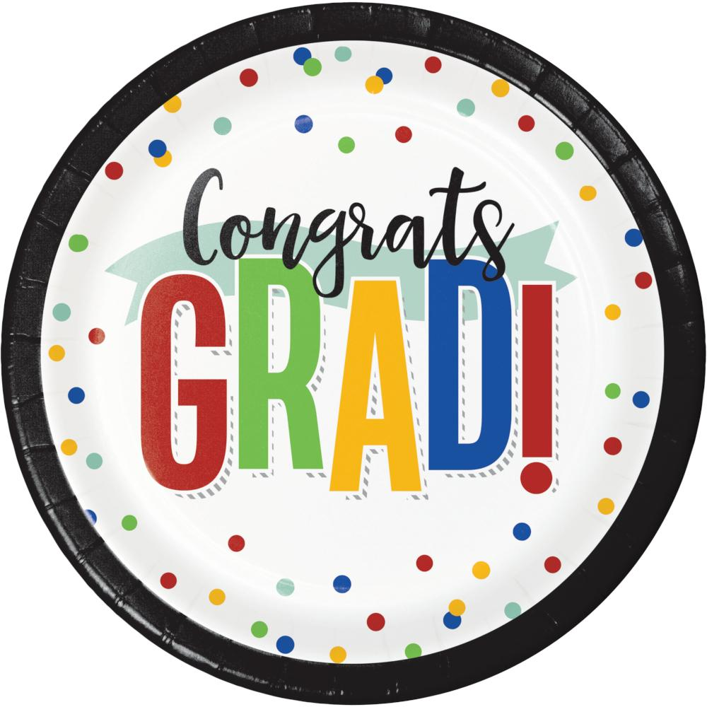 Colorful Grad Luncheon Plate (8/Pkg) by Creative Converting