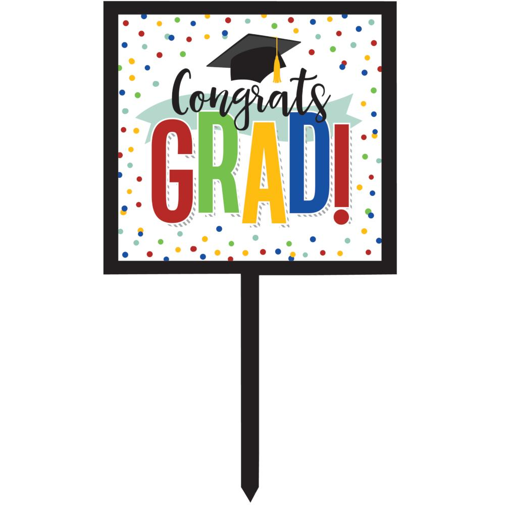 Colorful Grad Yard Sign (1/Pkg) by Creative Converting