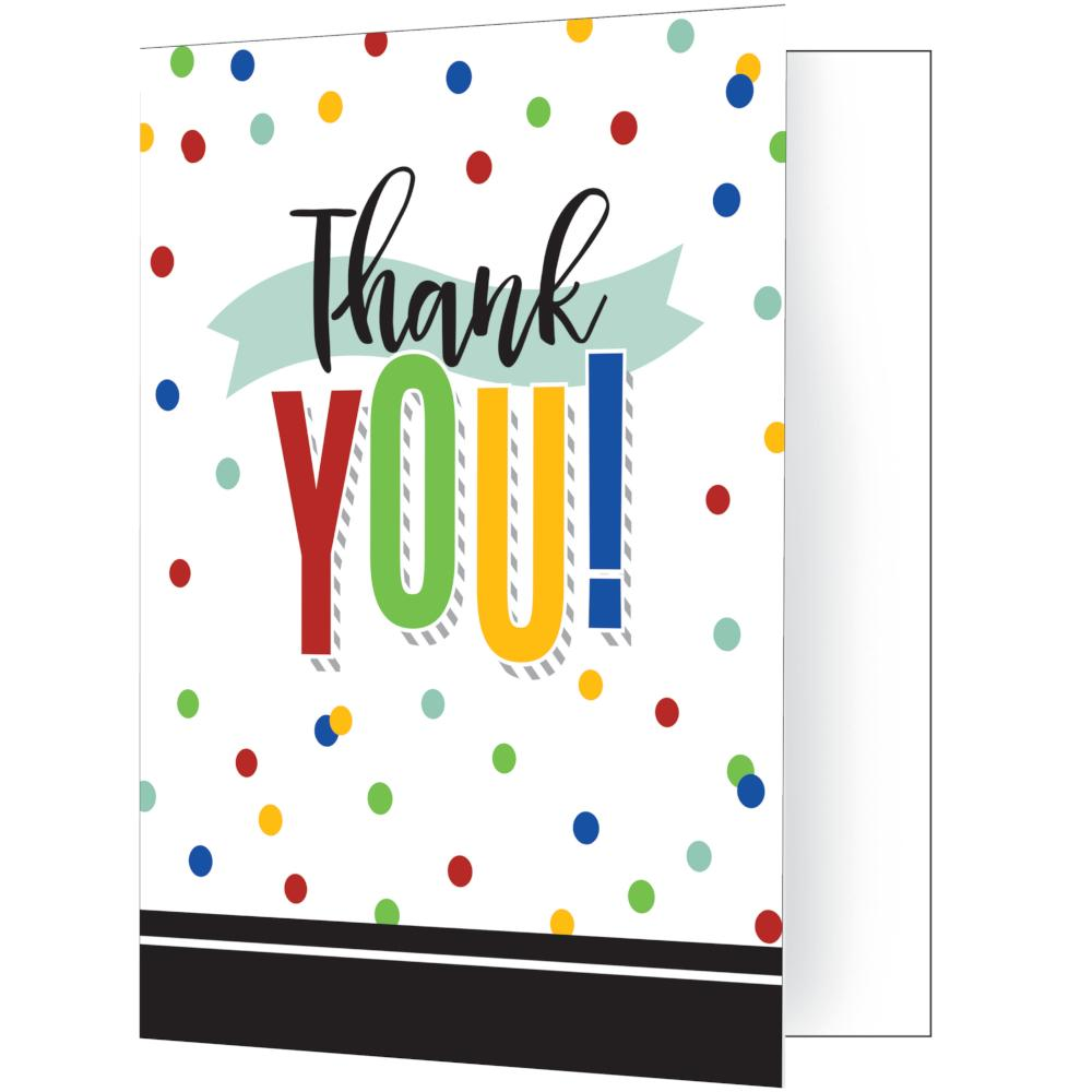 Colorful Grad Thank You (8/Pkg) by Creative Converting