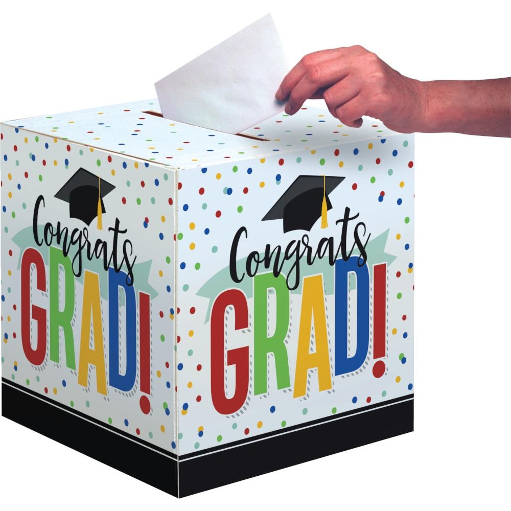 "Colorful Grad 12"" X 12"" Card Box (1/Pkg) by Creative Converting"